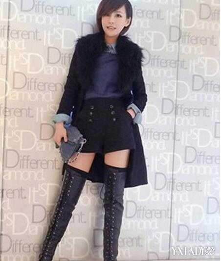 【图】皮裤搭配长筒靴图片女星教你如何时尚穿搭