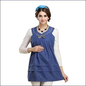 蓝色孕妇装