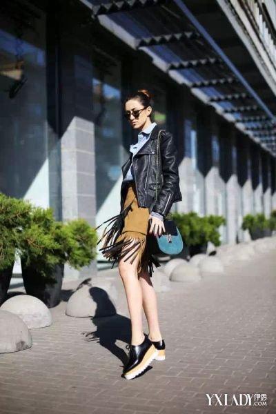 【图】流苏皮裙搭配什么上衣好呢具有时尚元素又很容易驾驭