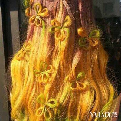 【图】橙色搭配挑染介绍5款挑染发型让你更出彩