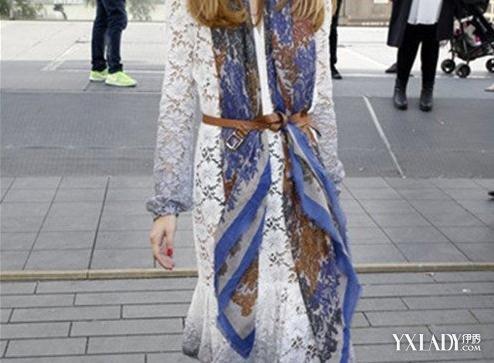 【图】春长袖蕾丝连衣裙女神气质不能少