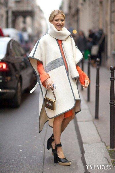 【图】斗篷披肩连衣裙图片欣赏教你四种斗篷披肩的搭配法