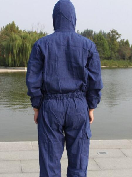 工作服连体裤喷漆牛仔服男女连体服