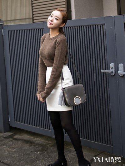 【图】一米五的女生穿衣搭配毛衣+高腰裙让你秒变大长腿
