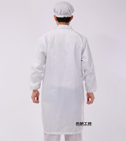 男女通用防静电白色大褂工作服