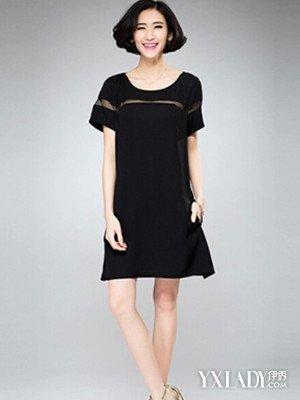 【图】大码连衣裙胖mm秋装搭配4款时髦连衣裙任你挑