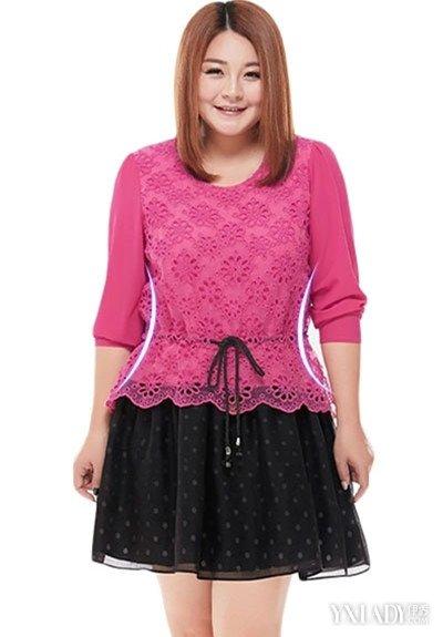 【图】肥胖衣服的设计搭配4款胖妹潮服秀出你的完美身材