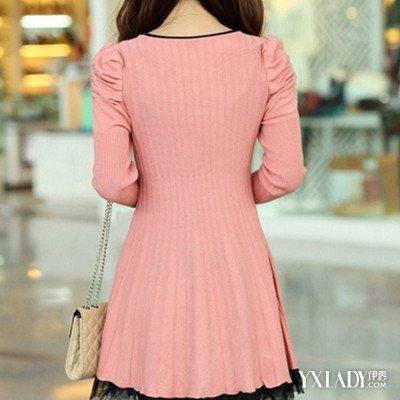 【图】免费教你粉色短款针织衫怎么搭配淑女知性形象立显