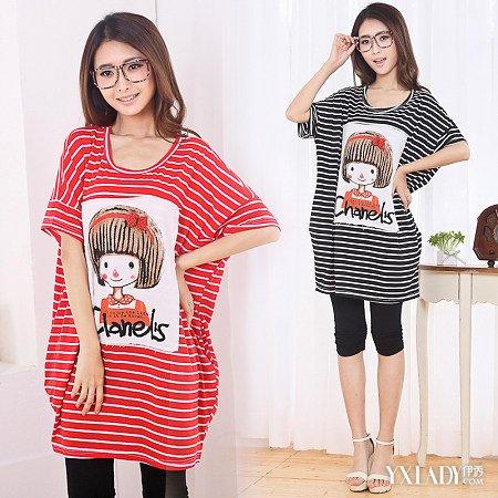 【图】长款大码t恤女3款显瘦搭配让你身材更完美