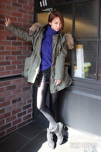 【图】矮个子外套冬季搭配女高领毛衣+外套显高养眼